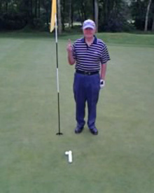 Brian Hole in one Swindon GC 27 May 2014